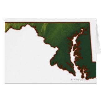 Mapa de Maryland Tarjeta De Felicitación