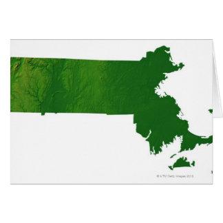 Mapa de Massachusetts Tarjeta De Felicitación