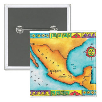Mapa de México Chapa Cuadrada