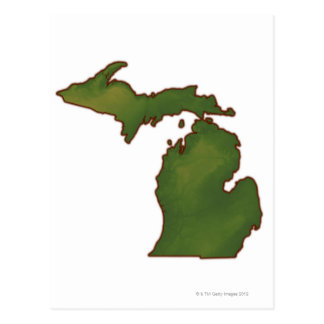 Mapa de Michigan 4 Postal