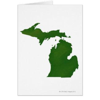 Mapa de Michigan Tarjeta De Felicitación
