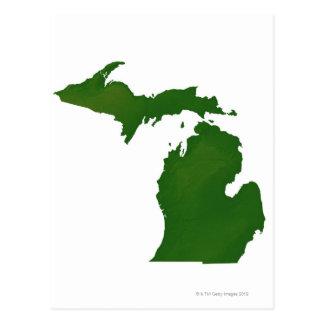Mapa de Michigan Postales