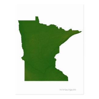 Mapa de Minnesota 2 Postal