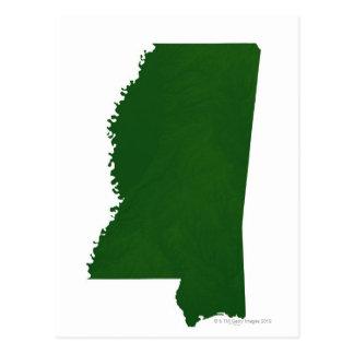 Mapa de Mississippi 2 Postal