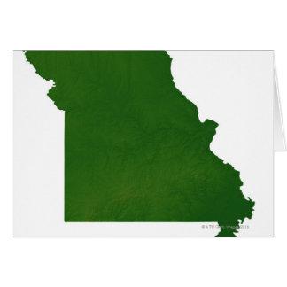 Mapa de Missouri Tarjeta De Felicitación