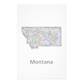 Mapa de Montana Folleto 14 X 21,6 Cm