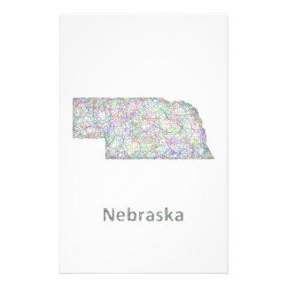 Mapa de Nebraska Folleto 14 X 21,6 Cm