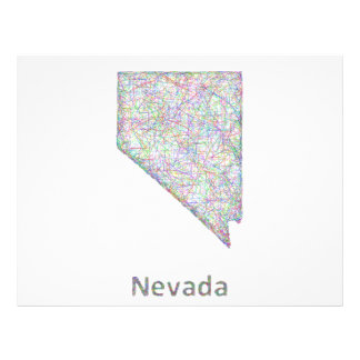 Mapa de Nevada Folleto 21,6 X 28 Cm