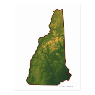 Mapa de New Hampshire 2 Postal