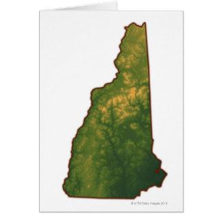 Mapa de New Hampshire 2 Tarjeta