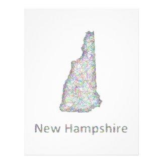 Mapa de New Hampshire Folleto 21,6 X 28 Cm