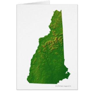 Mapa de New Hampshire Tarjetón