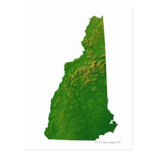 Mapa de New Hampshire Postal