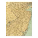 Mapa de New Jersey Tarjetas Postales