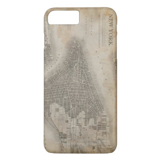 Mapa de New York City del vintage Funda iPhone 7 Plus