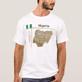 Mapa de Nigeria + Bandera + Camiseta del título