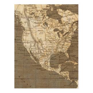Mapa de Norteamérica por Arrowsmith Postal