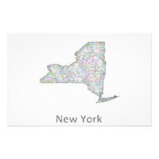 Mapa de Nueva York Folleto 14 X 21,6 Cm
