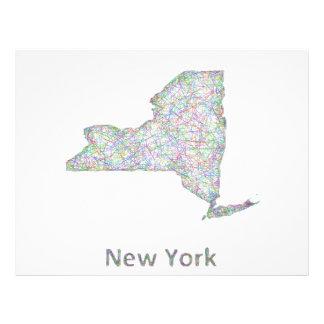 Mapa de Nueva York Folleto 21,6 X 28 Cm