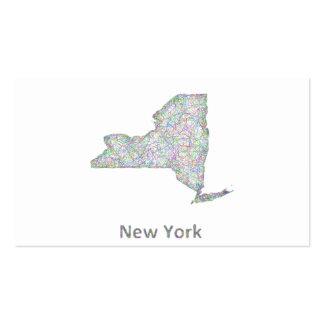 Mapa de Nueva York Tarjetas De Visita