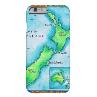 Mapa de Nueva Zelanda 2 Funda De iPhone 6 Barely There