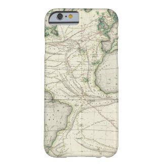 Mapa de Océano Atlántico Funda Barely There iPhone 6