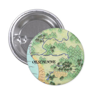 Mapa de Oescienne Chapa Redonda De 2,5 Cm