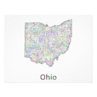 Mapa de Ohio Folleto 21,6 X 28 Cm