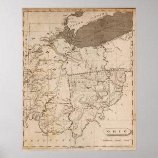 Mapa de Ohio por Arrowsmith Póster