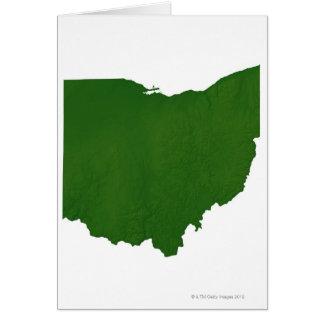 Mapa de Ohio Tarjeta De Felicitación