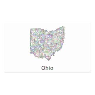 Mapa de Ohio Tarjetas De Visita