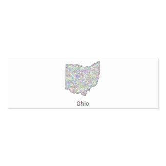 Mapa de Ohio Tarjetas De Visita Mini