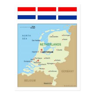Mapa de Países Bajos Postal
