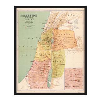 Mapa de Palestina a tiempo de Cristo (a 70 A.D.) Impresión En Lienzo