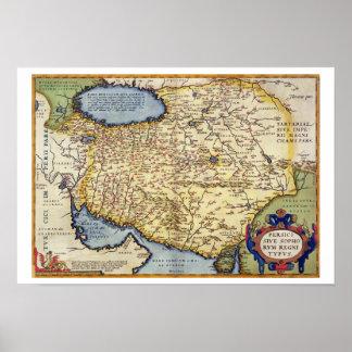 """Mapa de Persia, del """"Theatrum Orbis Terrarum"""", Póster"""
