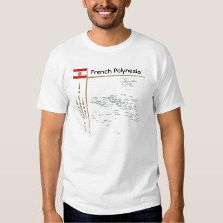 Mapa de Polinesia francesa + Bandera + Camiseta