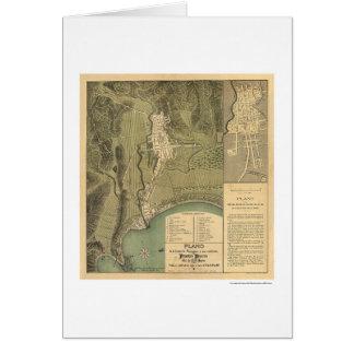 Mapa de Puerto Rico de Federico Drouyn 1888 Tarjeta