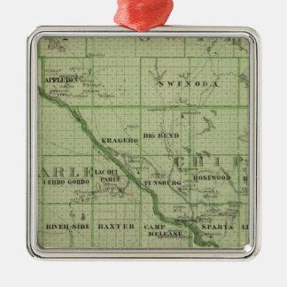 Mapa de rápido, Minnesota Adornos