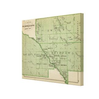 Mapa de rápido, Minnesota Impresiones En Lona