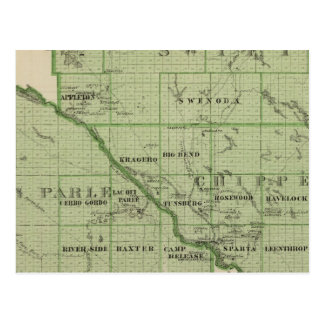 Mapa de rápido, Minnesota Tarjeta Postal