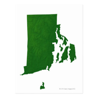 Mapa de Rhode Island 2 Postal