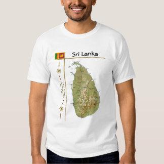 Mapa de Sri Lanka + Bandera + Camiseta del título
