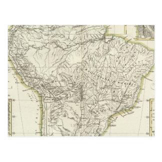 Mapa de Suramérica 3 Postal