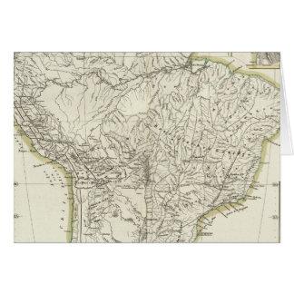 Mapa de Suramérica 3 Tarjeta De Felicitación