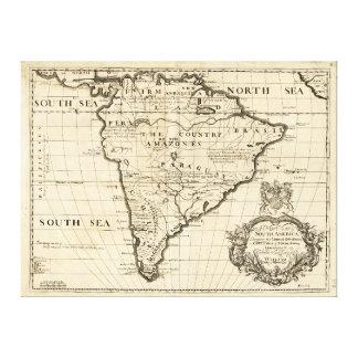 Mapa de Suramérica por el col de Benjamin (1722) Impresión En Lienzo