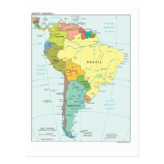 Mapa de Suramérica Postal