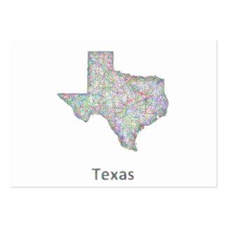 Mapa de Tejas Tarjetas De Visita Grandes