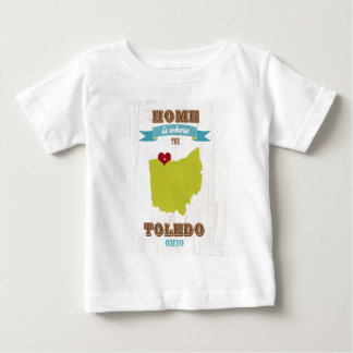 Mapa de Toledo, Ohio - casero es donde está el Camisetas