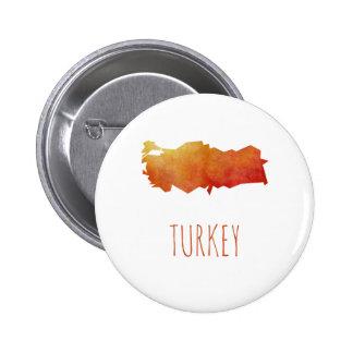 Mapa de Turquía Chapa Redonda De 5 Cm