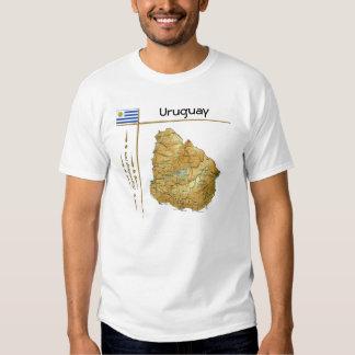 Mapa de Uruguay + Bandera + Camiseta del título